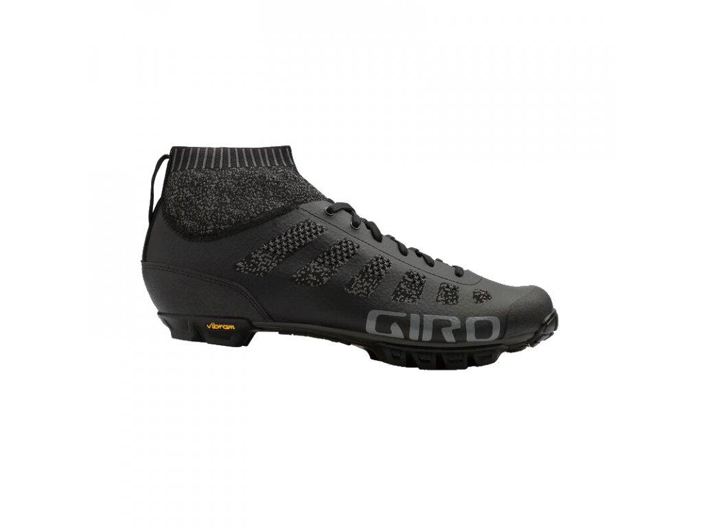 giro empire vr70 knit dirt shoe black charcoal profile