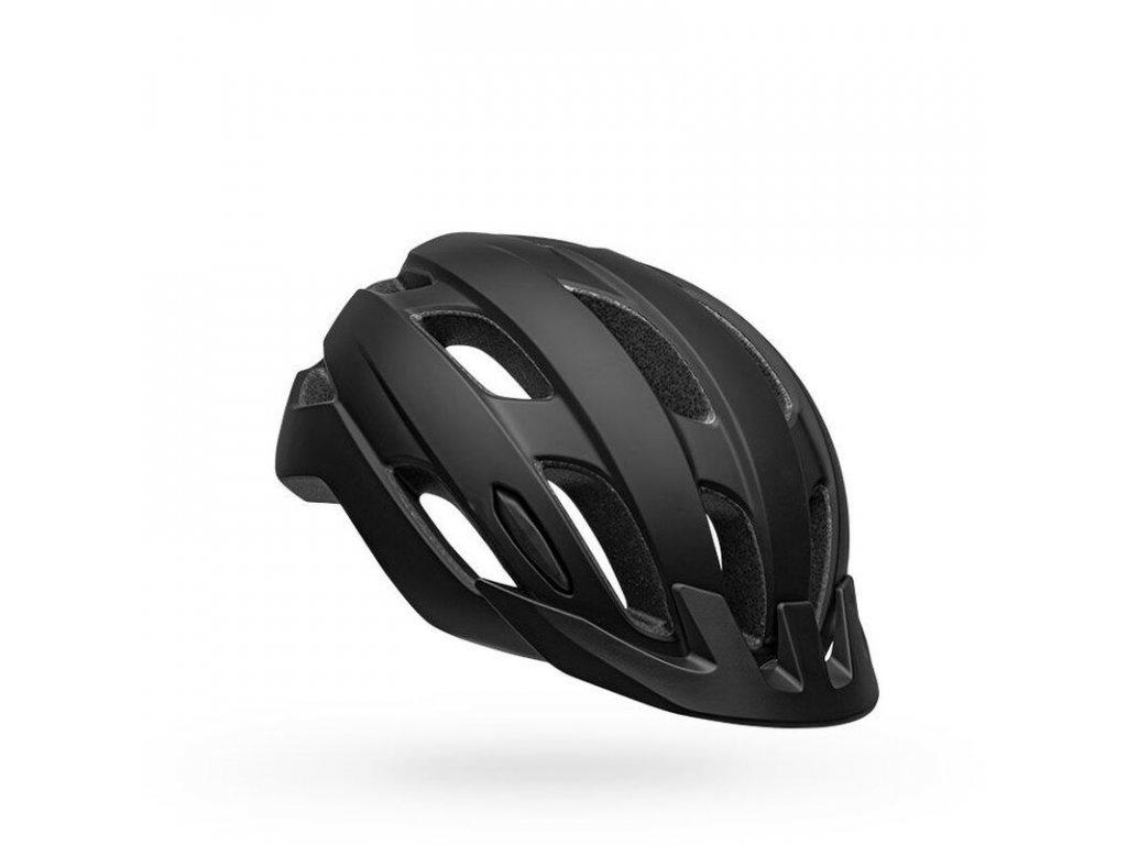bell trace led mips road bike helmet matte black front right