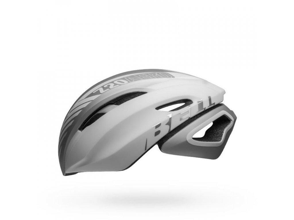 bell z20 aero mips road bike helmet blower matte gloss white silver left