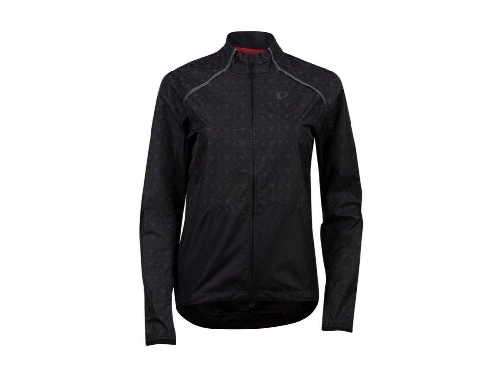 Cyklistická bunda Pearl Izumi W BioViz Barrier Jacket Black/Reflective Deco 2021