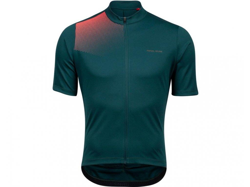 Cyklistický dres Pearl Izumi Tour Jersey Pine/Atomic Red Transform