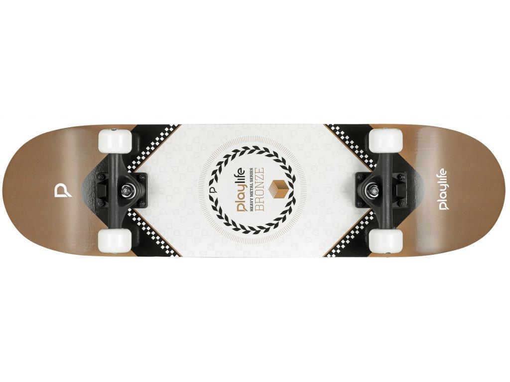 """Powerslide Skateboard Playlife Heavy Metal Bronze 31x8"""""""