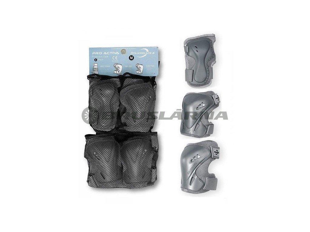 Inline chrániče Rollerblade PRO ACTIVA 3, Silver