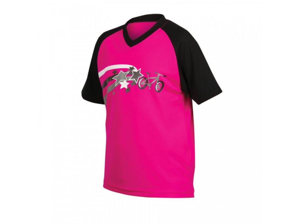 Cyklistický dres Pearl izumi MTB JERSEY JR. - pink/black