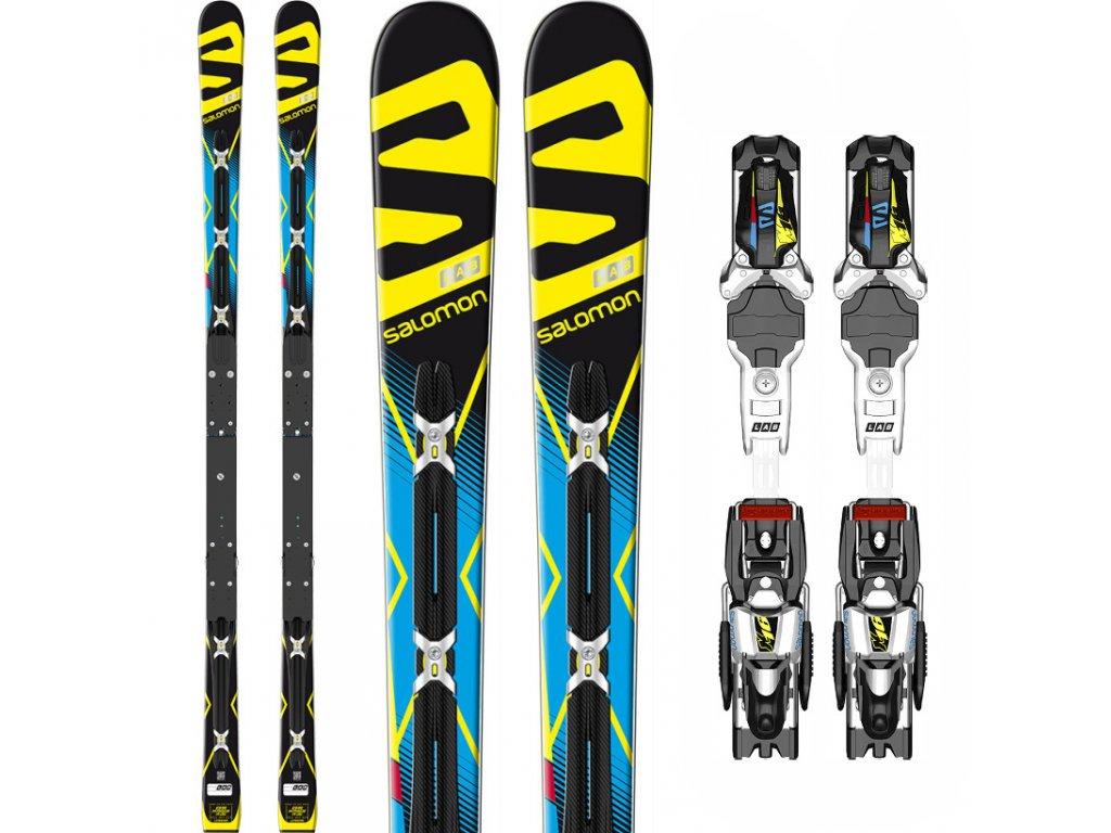Sjezdové lyže Salomon LAB X-Race GS 35 PWLX + vázání X16 LAB, black/blue, 17/18