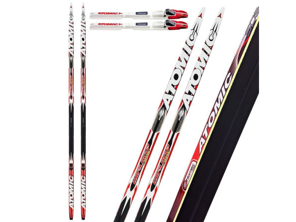 Atomic WORLDCUP CLASSIC FL SDS soft/cold + SNS Propulse RC2, black/white/red, 14/15- testovací