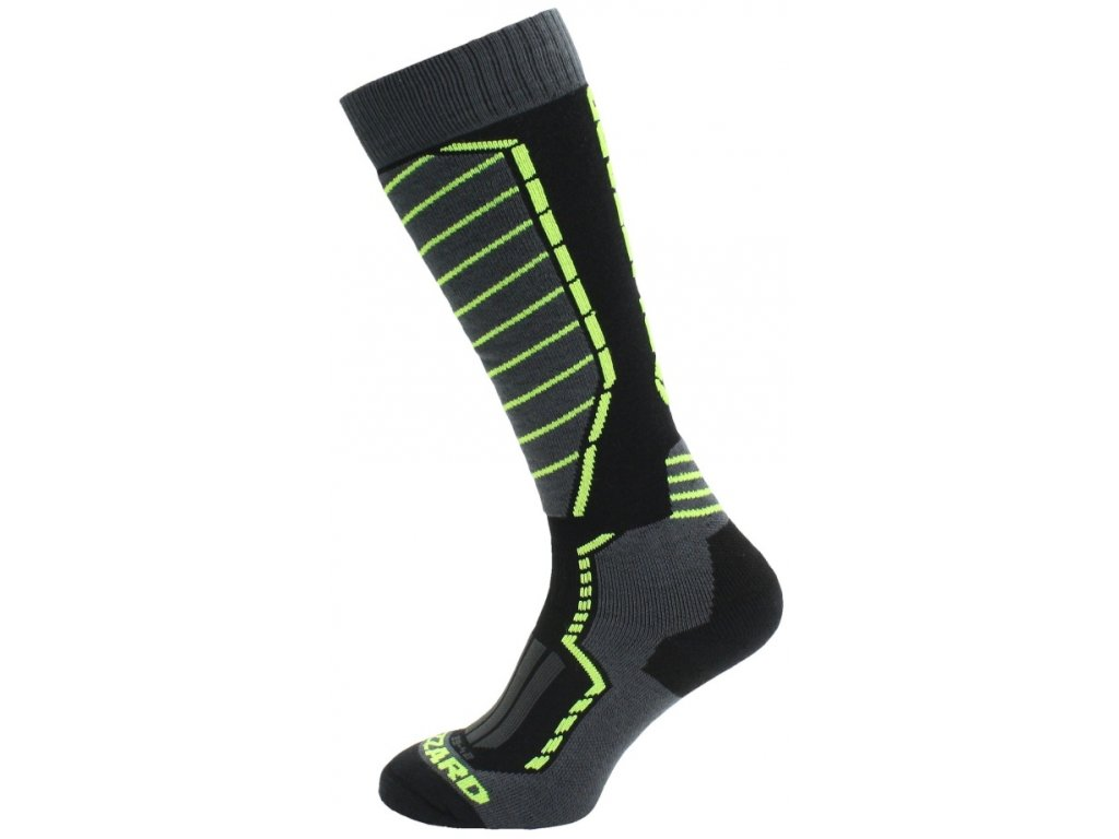 Blizzard PROFI SKI SOCKS - black/anthracite/signal yellow