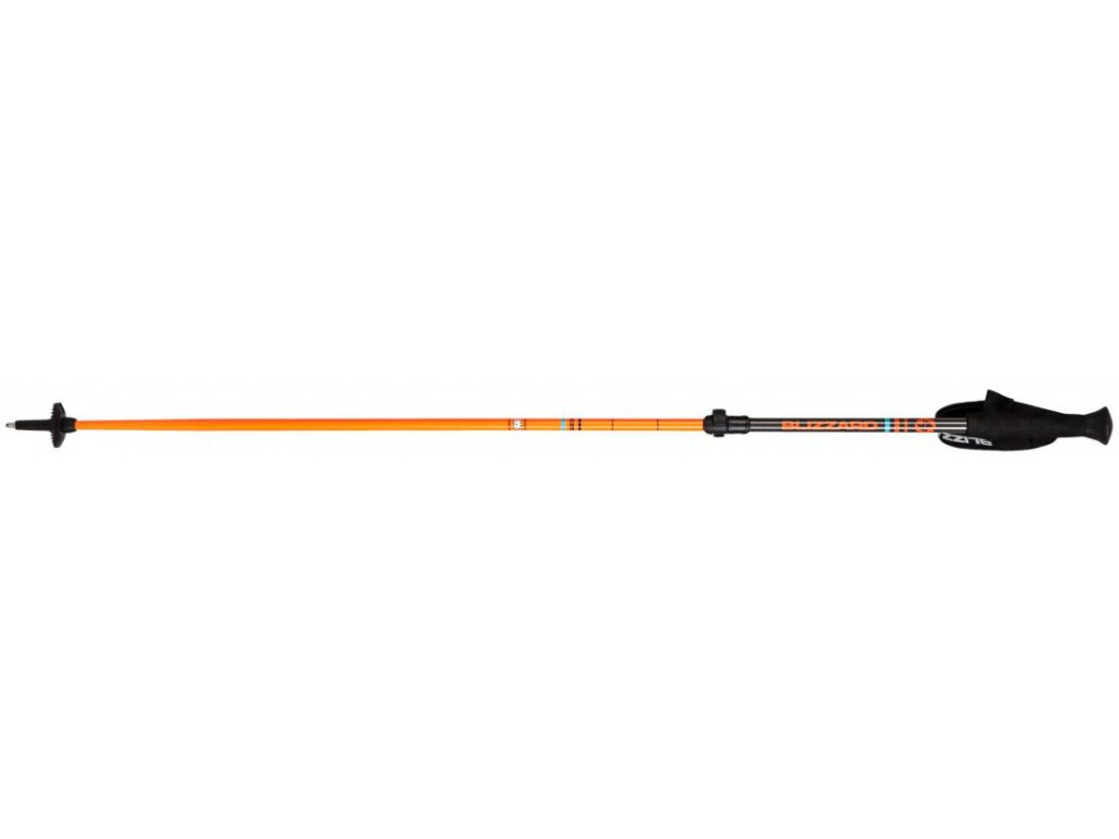 Blizzard RACE TELESCOPIC 2 SECTION SKI POLES - black/orange 18/19