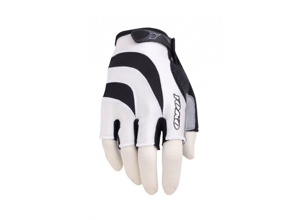 Cyklistické rukavice YOKO YBG 3S  - white