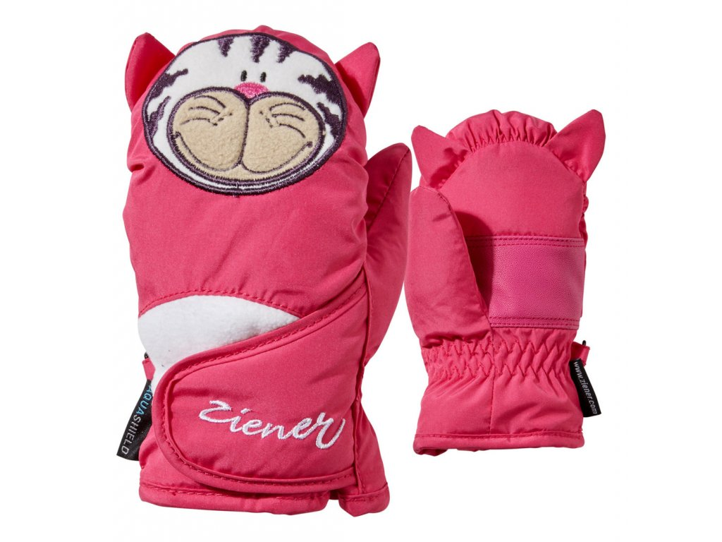 Ziener LAFAUNA AS® MINIS GLOVE - pop pink