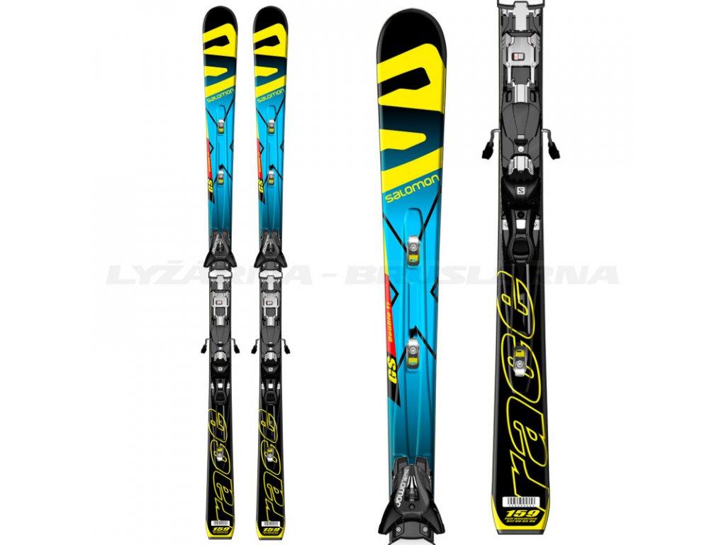 Sjezdové lyže Salomon LAB X-RACE GS JR + vázání Z12 Speed
