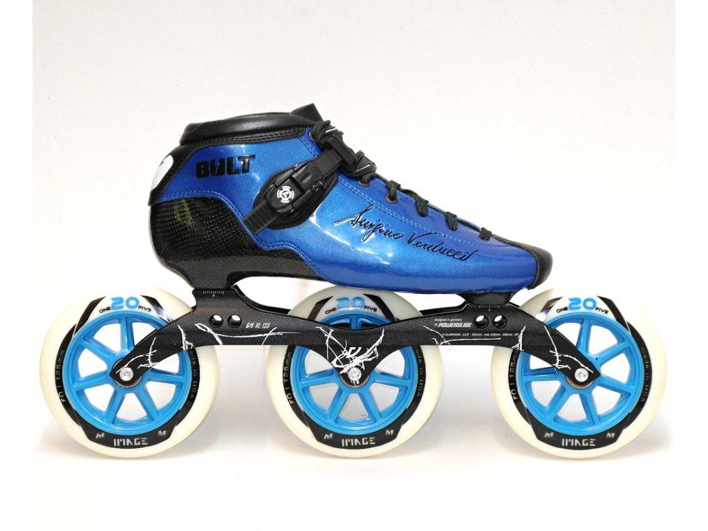 Kolečkové brusle Luigino BOLT 3x125 - blue