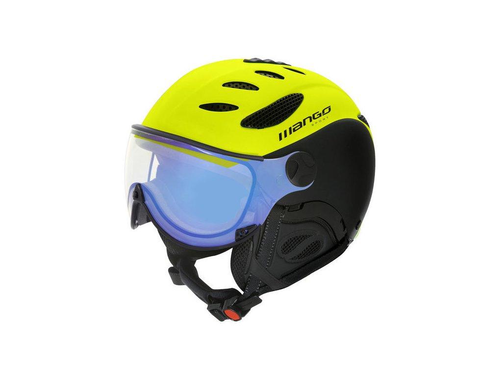 Lyžařská helma Mango CUSNA VIP - žluta fluo/černá mat 18/19