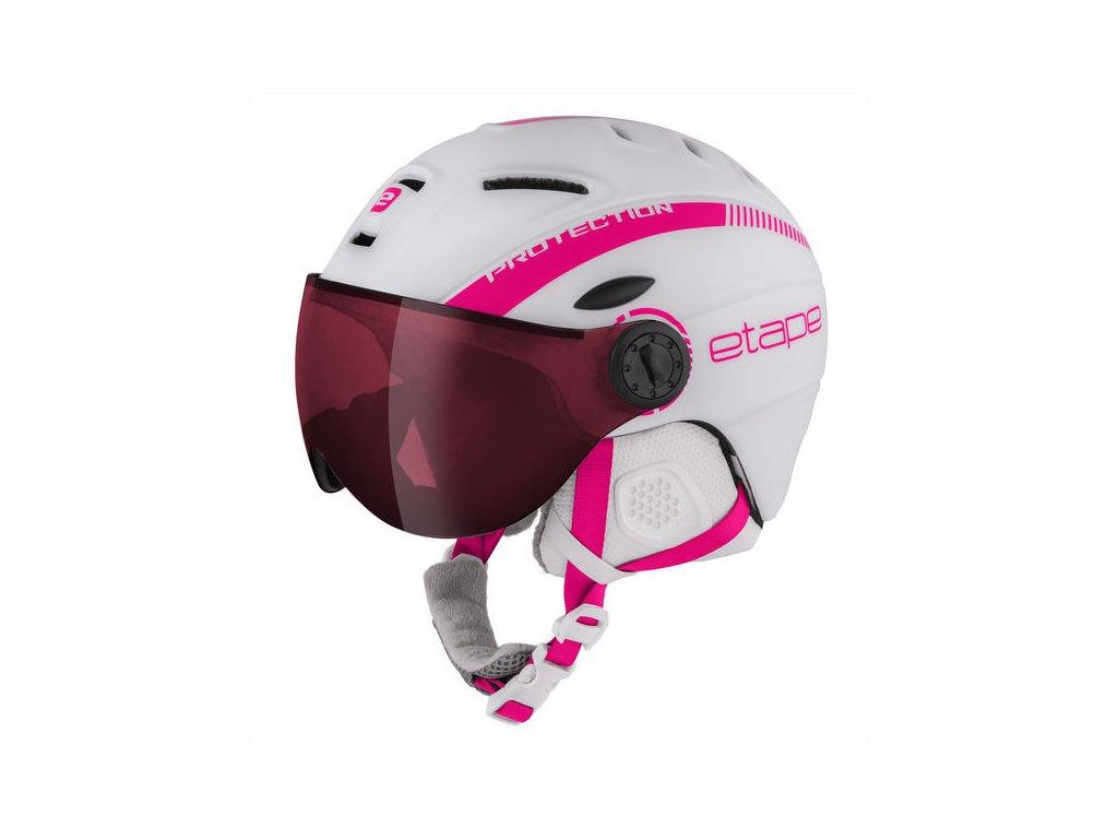 Lyžařská helma Etape RIDER PRO - bílá/růžová mat 19/20