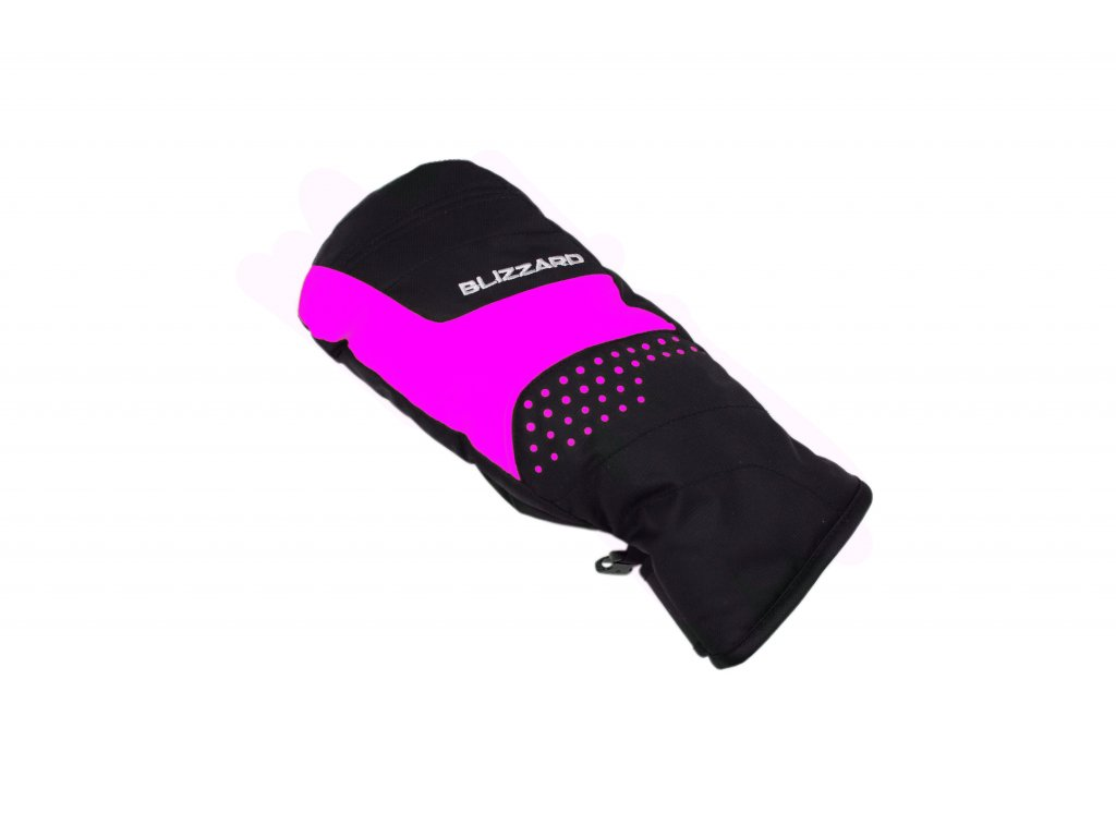 Blizzard MITTEN JUNIOR SKI GLOVES - black/pink 19/20