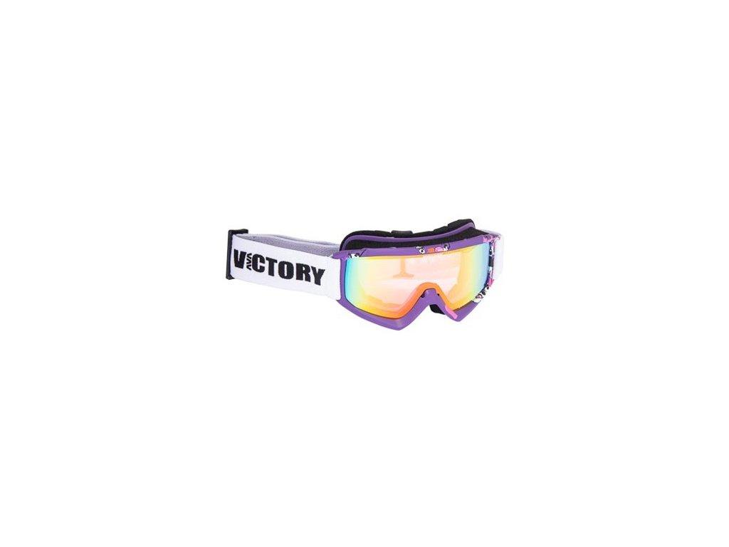 Lyžařské brýle Victory SPV 630 JR. - fialové s potiskem