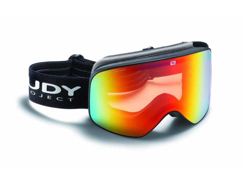 Lyžařské brýle Rudy Project SKERMO - black mat/multi laser orange