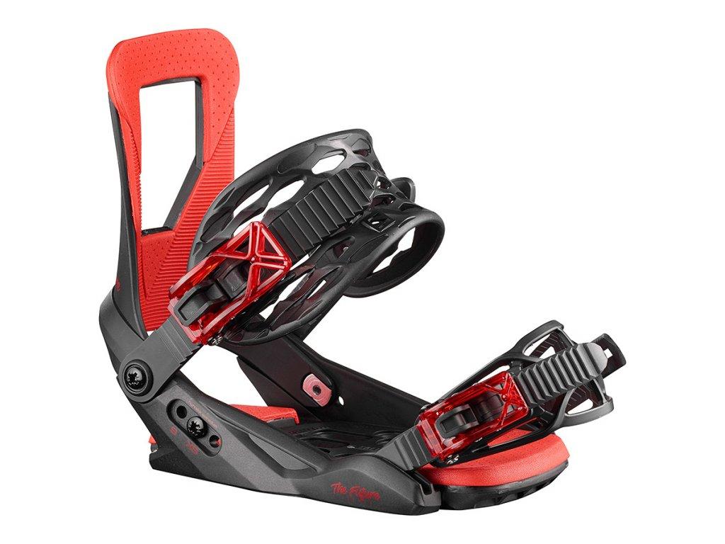 Snowboard vázání Salomon THE FUTURE JR. - black/red