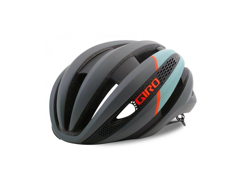 Cyklistická helma Giro SYNTHE MIPS - matte charcoal/frost 2018