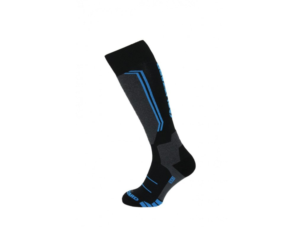 Blizzard ALLROUND wool ski socks junior, black/anthracite/blue