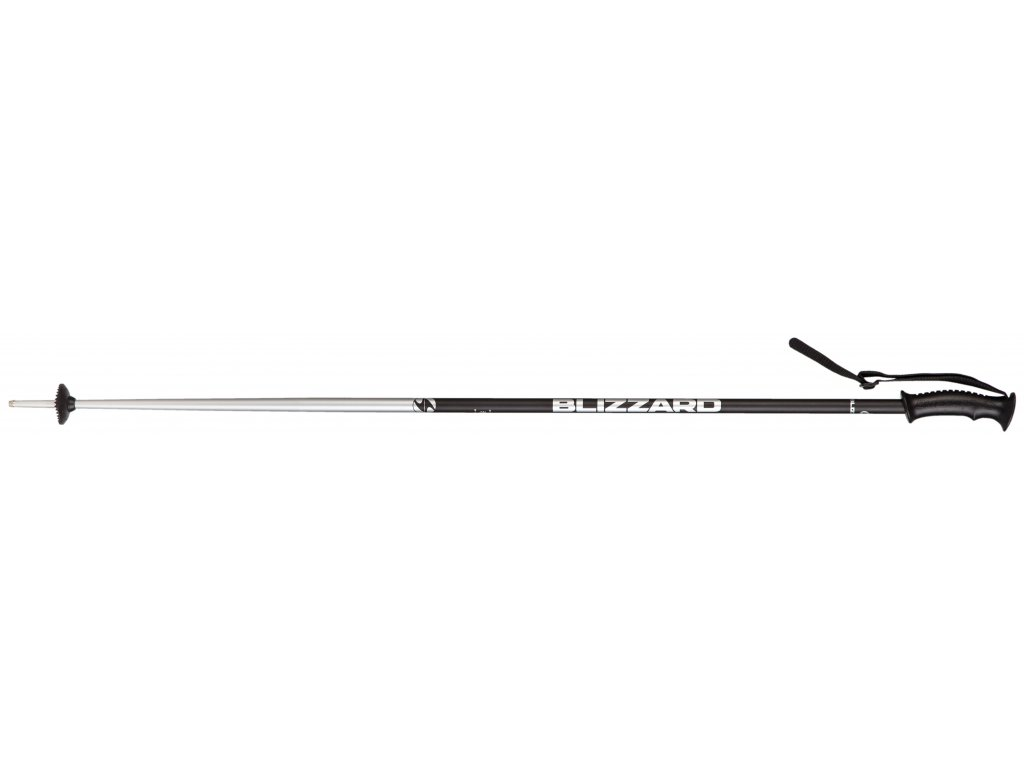 Blizzard ALLMOUNTAIN SKI POLES, black shiny/silver 18/19