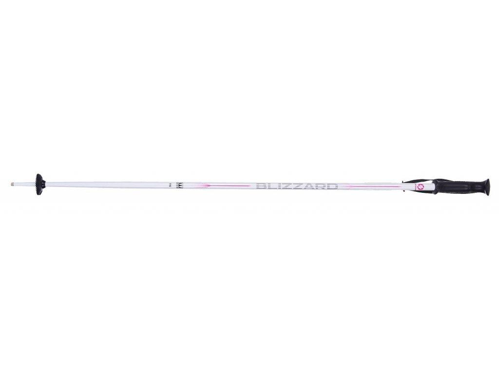 Lyžařské hůlky Blizzard VIVA SPORT white/silver/pink 19/20