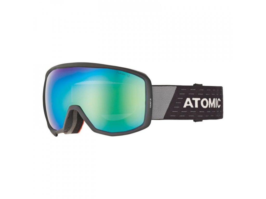 Lyžařské brýle Atomic COUNT JR SPHERICAL black/grey