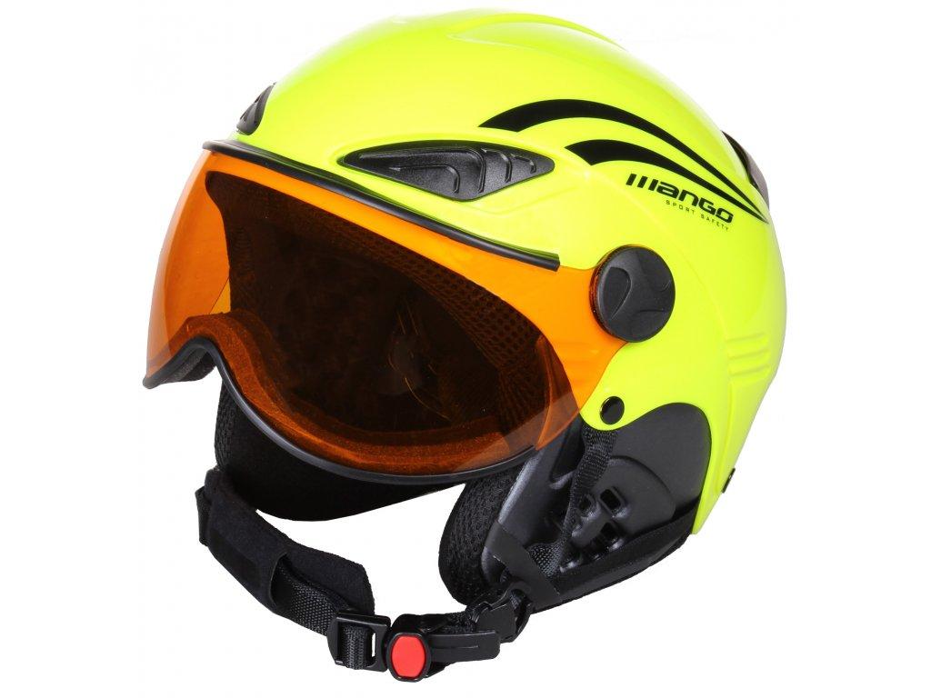 Lyžařská helma Mango ROCKY PRO - žlutá fluo 18/19