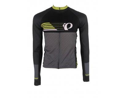 Cyklistický dres PEARL iZUMi ELITE PURSUIT LTD LS JERSEY Black/Green