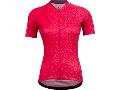 Cyklistický dres Pearl izumi W ATTACK Jersey Virtual pink hex