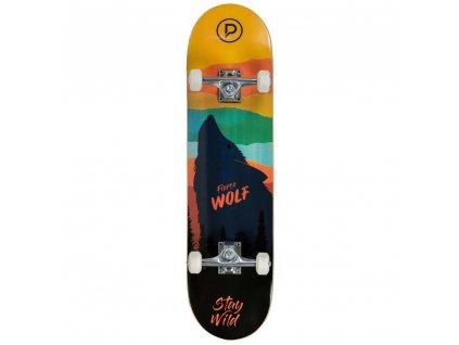 """Powerslide Skateboard Playlife Fierce Wolf 31x8"""""""
