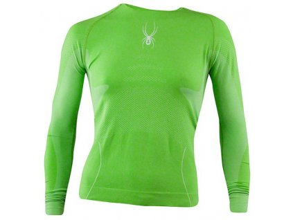 Spyder RUNNER WOMEN'S SEAMLESS L/S green