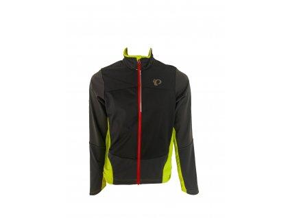Cyklistická bunda Pearl Izumi MTB SUMMIT SOFTSHELL Jacket Black/Lime punch