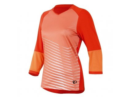 Cyklistický dres Pearl izumi LAUNCH 3/4 SLEEVE JERSEY W - mandarin red