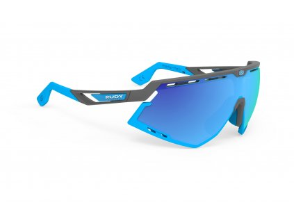 Rudy Project DEFENDER - pyombo mat/multilaser blue