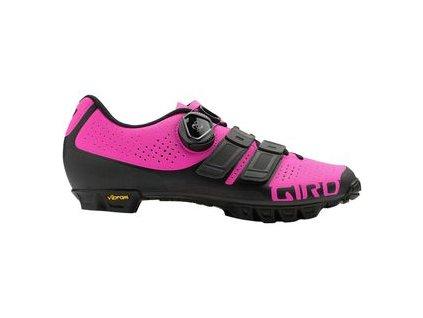 Giro W SICA TechLace - matte black/bright pink
