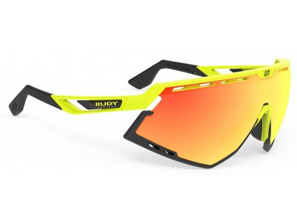 Rudy Project DEFENDER - yellow fluo gloss/multilaser orange
