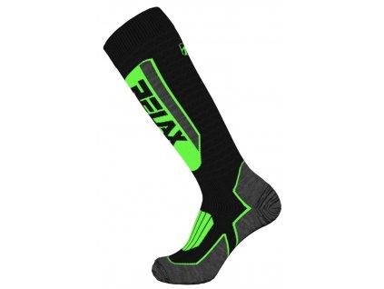Lyžařské ponožky RELAX EXTREME RSO32A, black/yellow