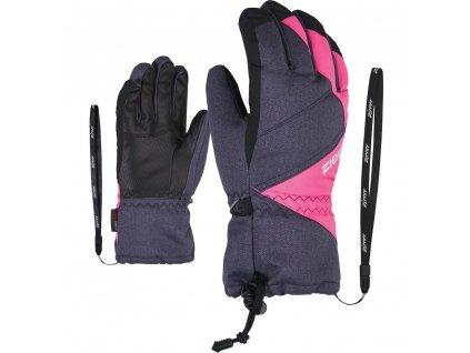 ziener grey night gloves jr