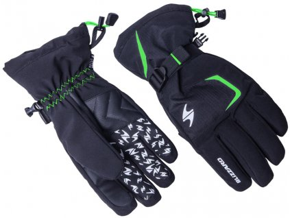 blizzard 160263 reflex ski gloves black green 0