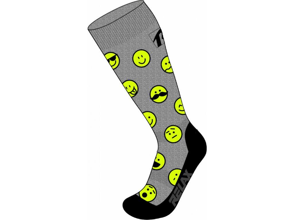 Lyžiarske ponožky RELAX HAPPY RSO35B, grey (Ponožky vel. EUR 31-34)