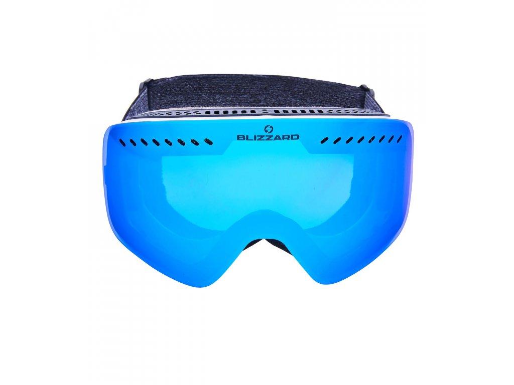 Blizzard Ski Gog. 983 MDAVZO white shiny / smoke2 / blue revo (Pohlavie univerzálne)