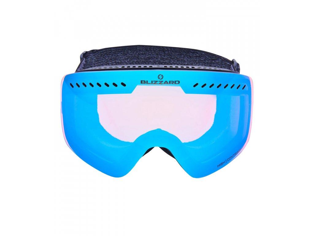Blizzard Ski Gog. 983 MDAVZOW black matt / smoke2 / ice blue revo (Pohlavie univerzálne)