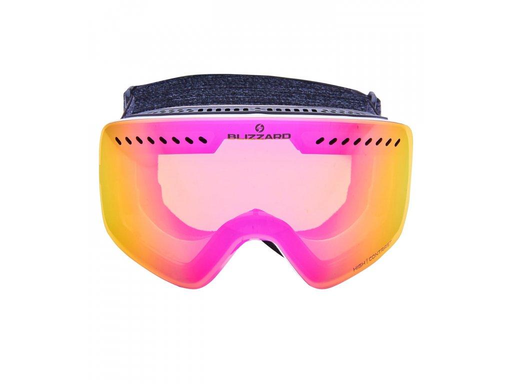 Blizzard Ski Gog. 983 MDAVZOW white shiny / smoke2 / pink revo (Pohlavie Dámske)