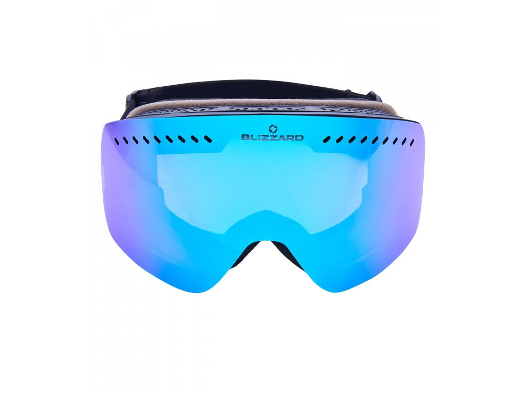 Blizzard Ski Gog. 985 MDAVZO black matt / smoke2 / ice blue revo (Pohlavie univerzálne)