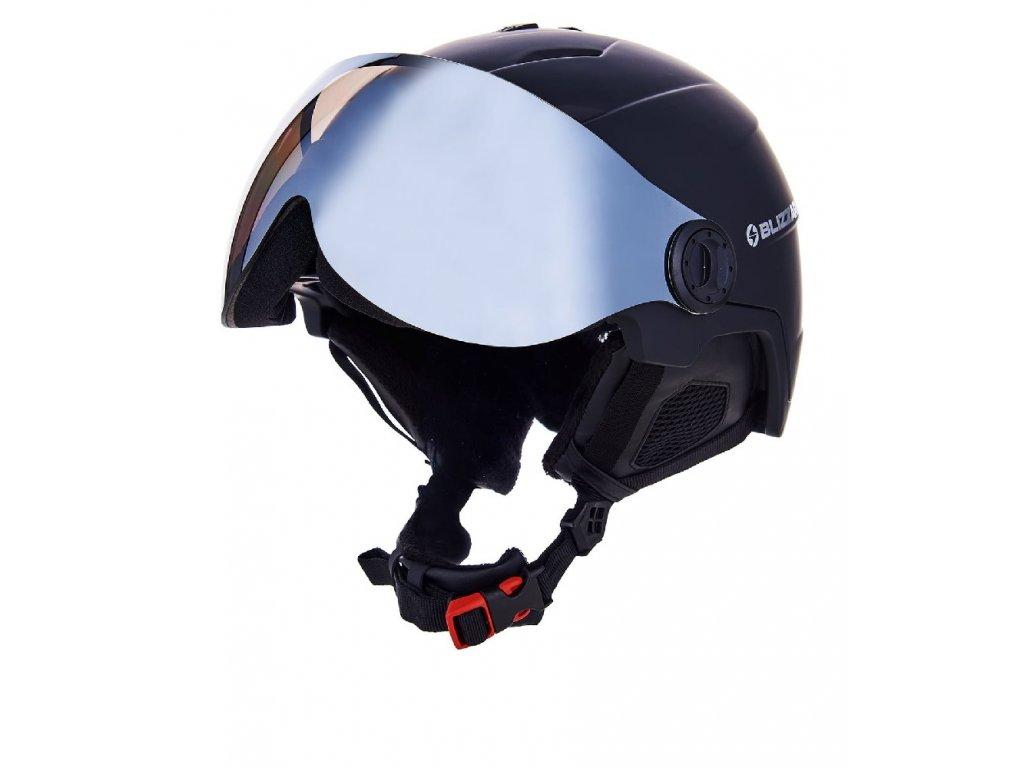 Lyžiarska helma Blizzard Double Visor black matt / smoke lens / mirror (Helmy vel. ML / 56-59)