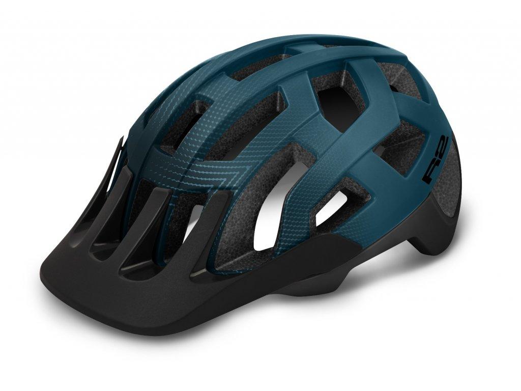 Cyklistická prilba R2 ATH24E FARGO, Modrá čierna (Helmy vel. L / 58-62)