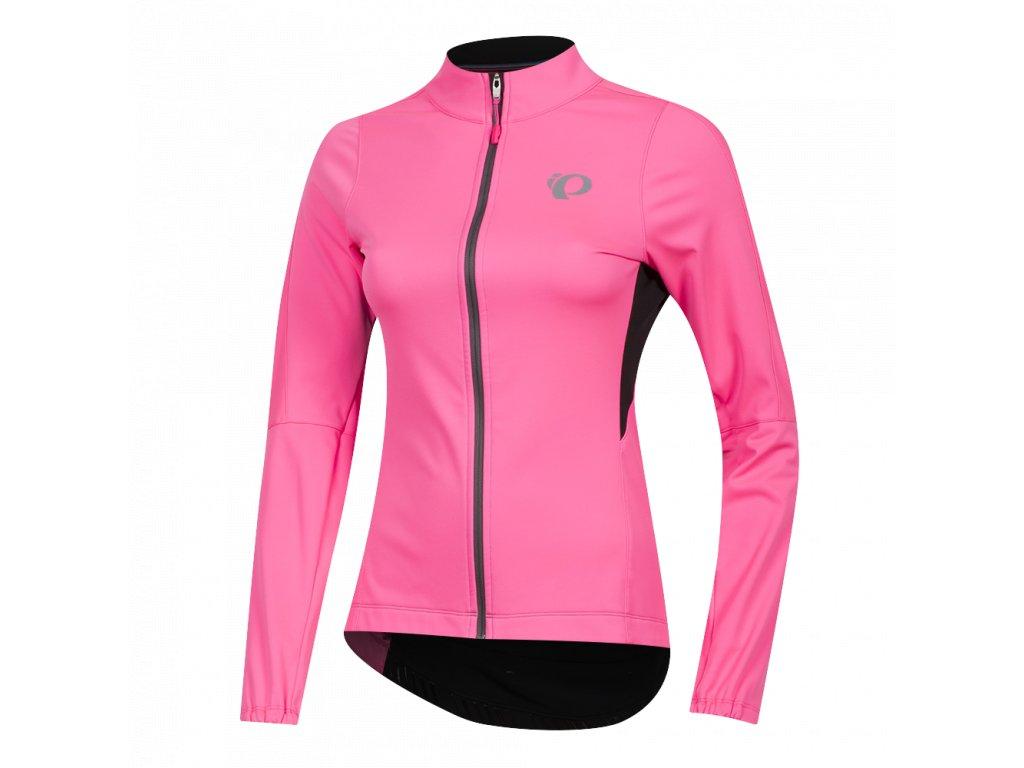 Cyklistická bunda Pearl Izumi W ELITE PURSUIT AMFIB JACKET, Pink / Black (veľkosť XL)
