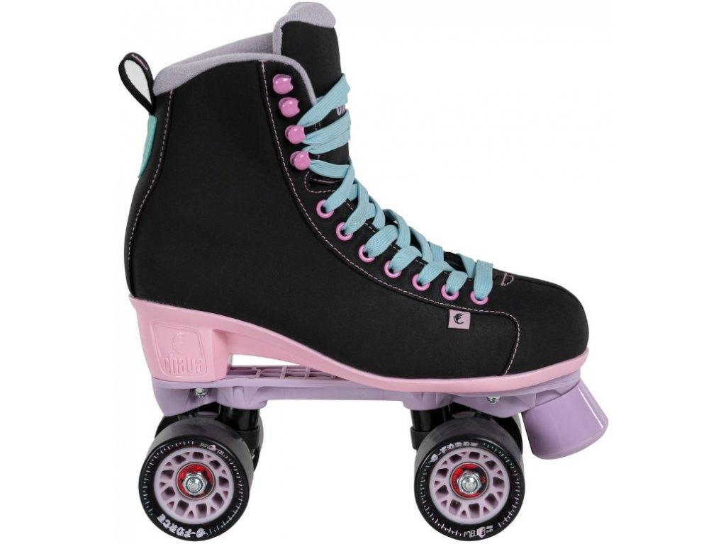 Kolieskové korčule Powerslide Chay Quad Melrose, Black / Pink (veľkosť EUR 36)