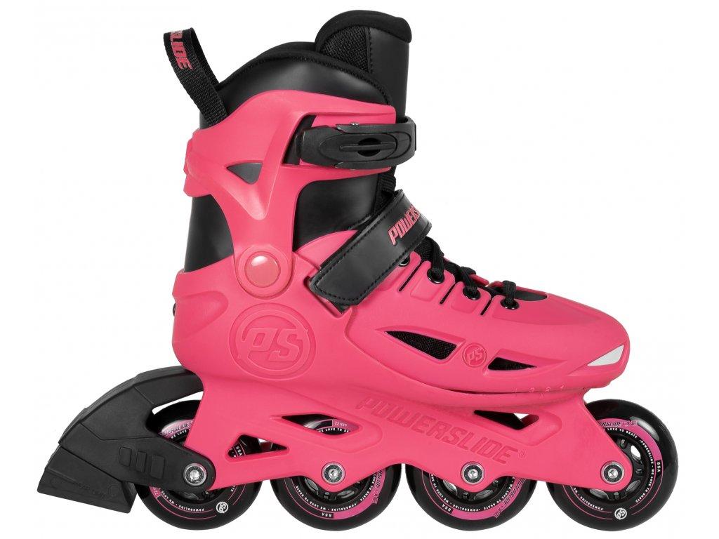 Kolieskové korčule Powerslide Stargaze, Pink (veľkosť EUR 33-36, veľkosť koliesok 72mm, počet koliesok 4x)